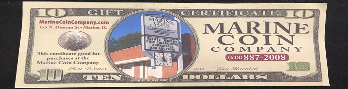 paper currency marine il