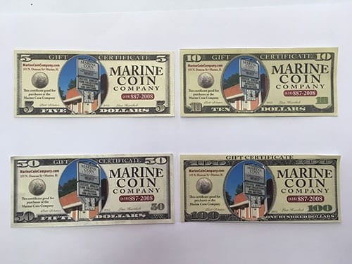 rare currency marine illinois